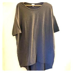 Lularoe Gray Short Sleeve Irma Top XL.